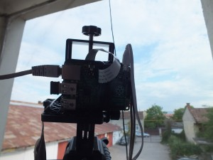 The RPi on a tripod