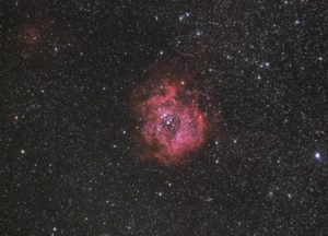 The Rosette nebula as processed on 2016-10-16 from data obtained in the spring