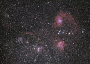 Final picture with 66% star reduction: M38 and the Flaming Star Nebula