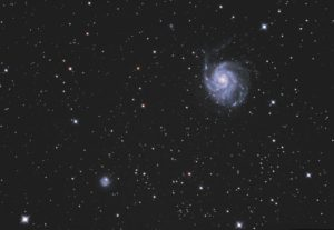 M 101 and NGC 5474, almost final image