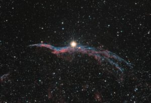 NGC 6960, 12×4 min, final image of the first process session