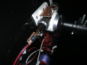 motorized focuser, the duct tape makes sure there is no stress from the misalignment of the improvised parts