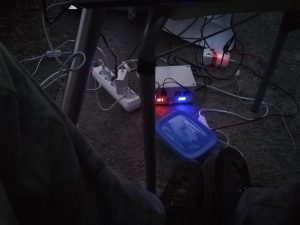 footsie with my boxes: two power supplies and the soapbox