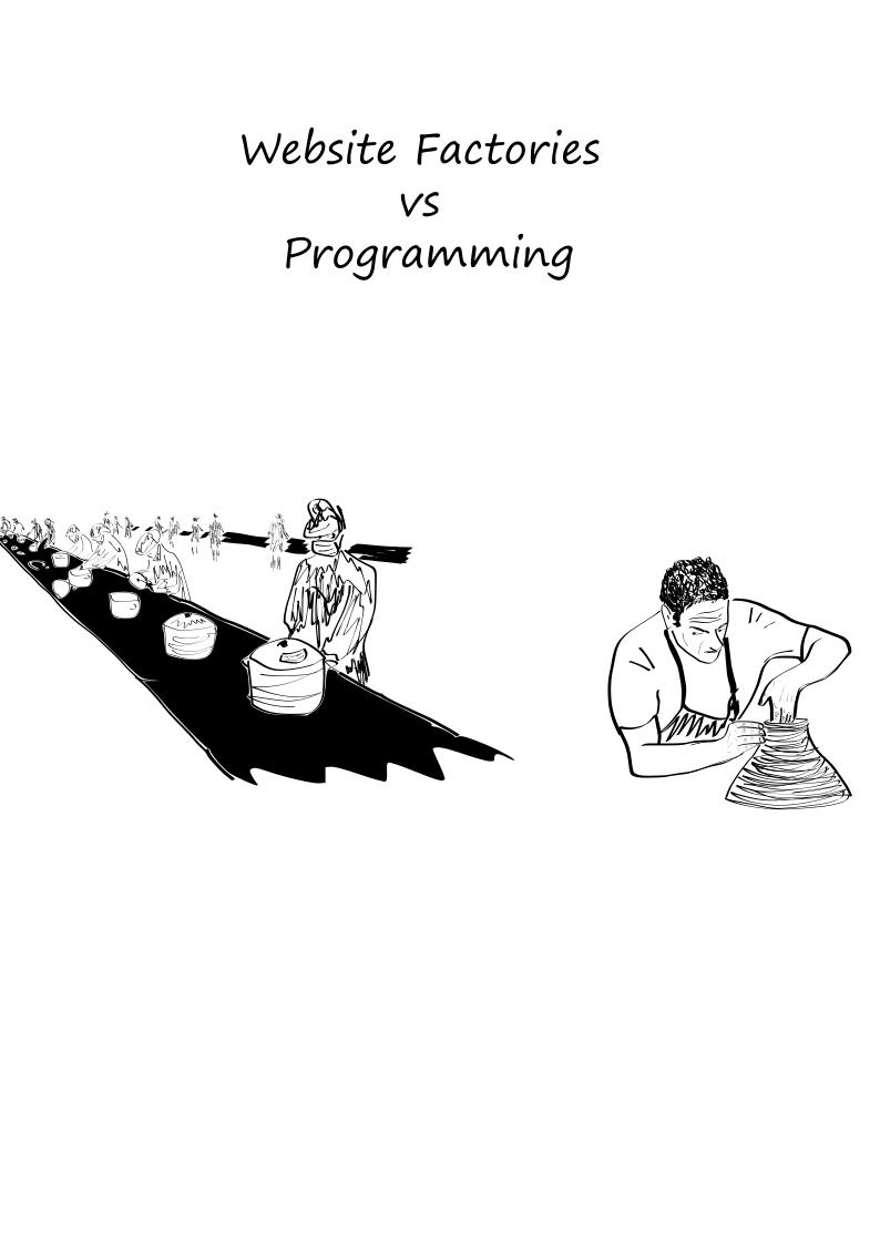 Website Factories vs Programming